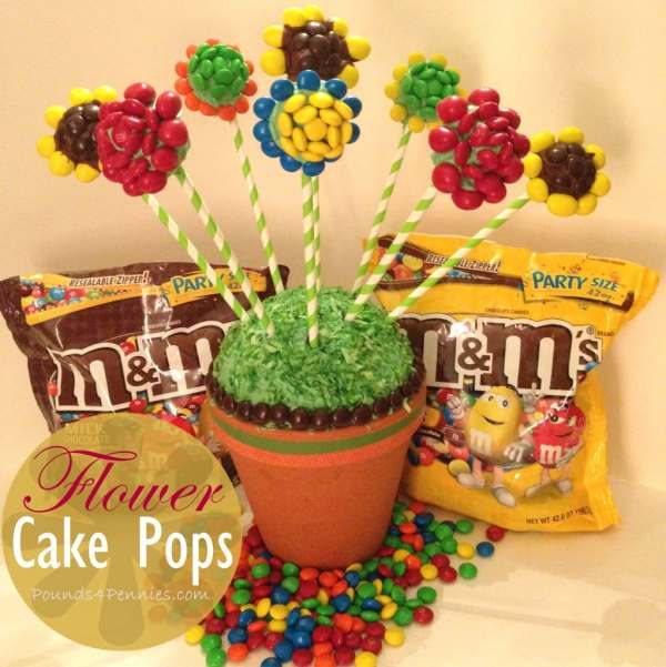 M&M's Flower Cake Pops #shop