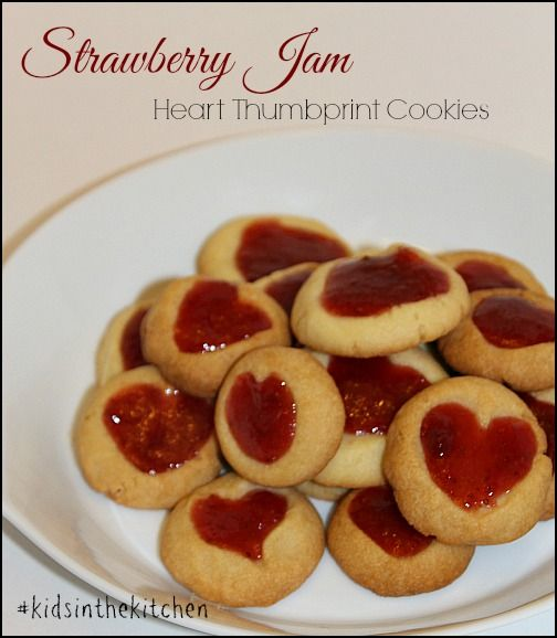 Strawberry Jam Valentine Cookies