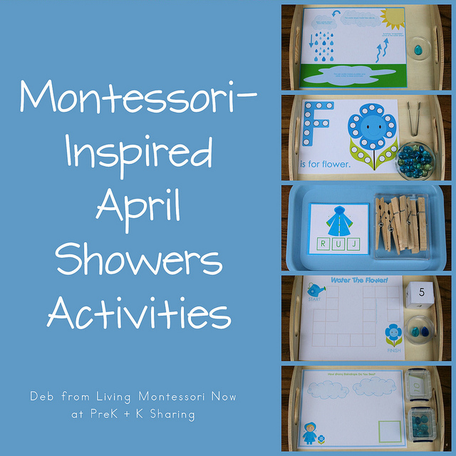 Montessori-Inspired April Showers Activities