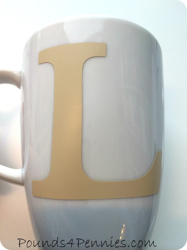 Vinyl Application to Sharpie Mug for Sharpie Mugs
