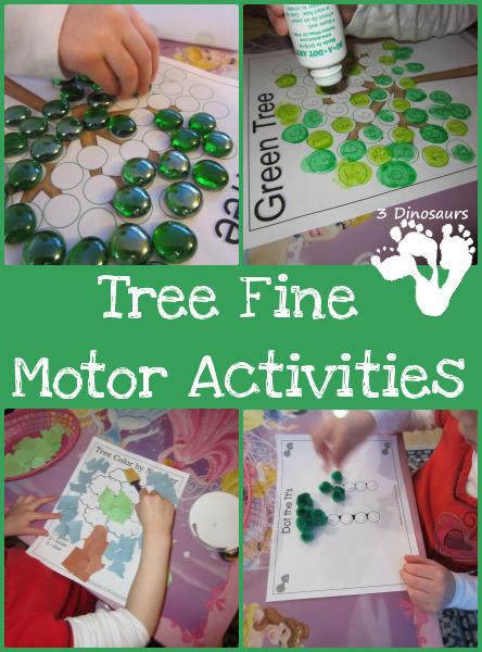 Tree Fine Motor Activities - 3Dinosaurs.com