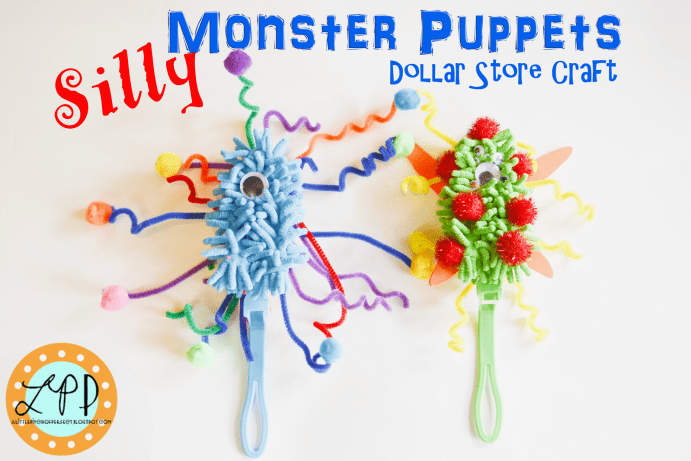 Silly Monster Puppets Dollar Store Craft