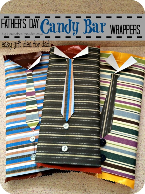 Easy Gift Idea for dad Candy Bar Warappers