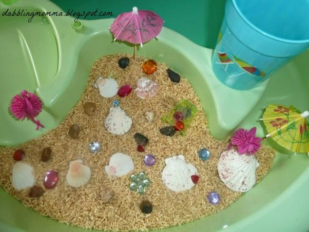 Beach sensory table