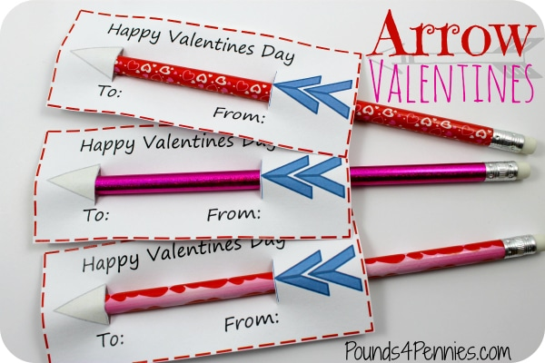 Easy Handmade Valentine cards Arrows