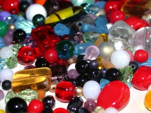 Glass beads - mixed spangling