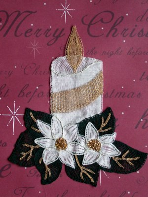 Christmas-Candle Lace making pattern
