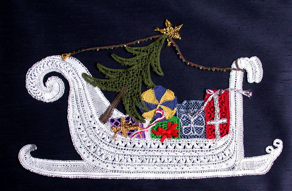 Christmas Sleigh  Lace Making Pattern
