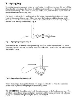 How to add beads to a bobbin