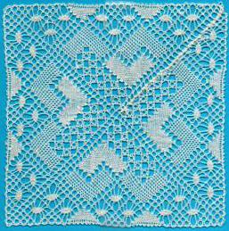 Chevron/Rose Ground mat Lace Making Pattern