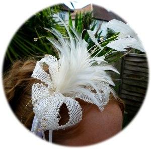 Cream Flower Fascinator - lace making pattern