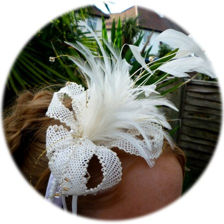 Cream Flower Fascinator - lace making pattern