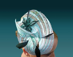 Fascinator Turquoise & Black