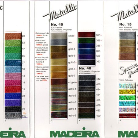 Metallic Thread chart