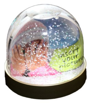 Snow Globe with design spacce