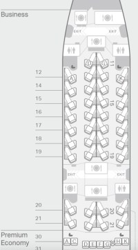 A350 Seat Map