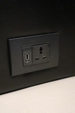 Multi-standard socket and USB charging (Photo: MainlyMiles)