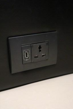 Multi-standard socket and USB charging (Photo: MainlyMiles)