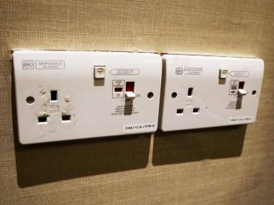 UK-style power sockets (Photo: MainlyMiles)