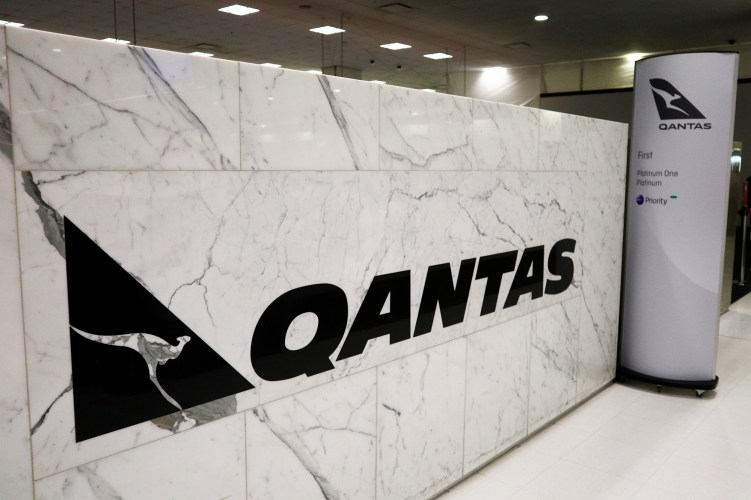 Qantas Sydney First Class Check in