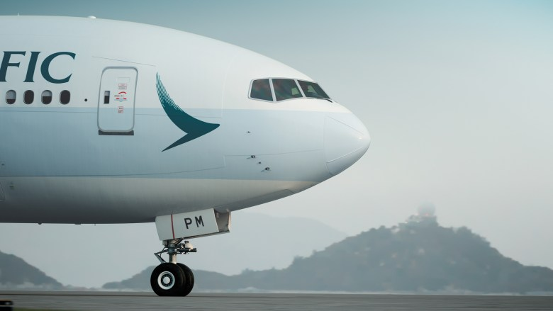 CX B77W Nose (Cathay Pacific)