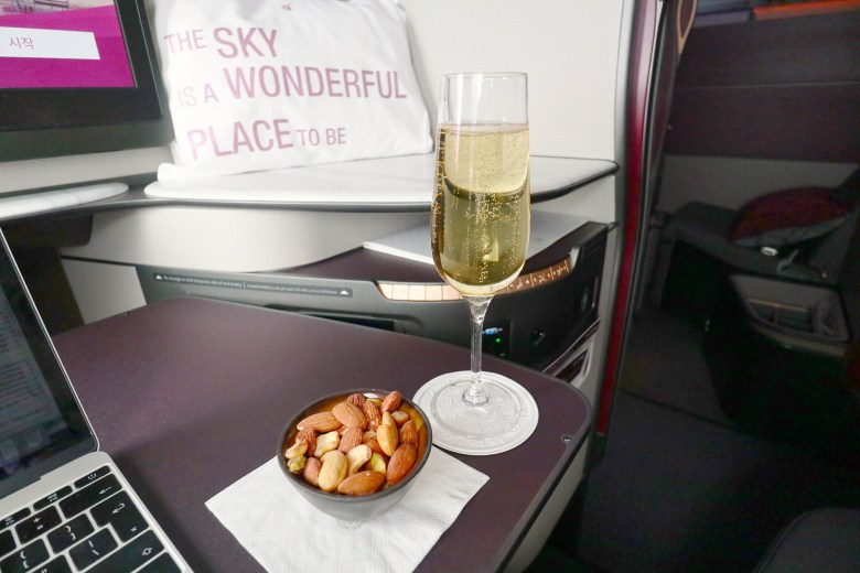 Champagne After Takeoff