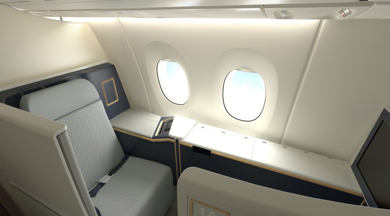 MH A350 F Seat 1A (Malaysia Airlines)