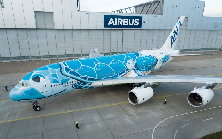 ANA A380 Paint Roll Out
