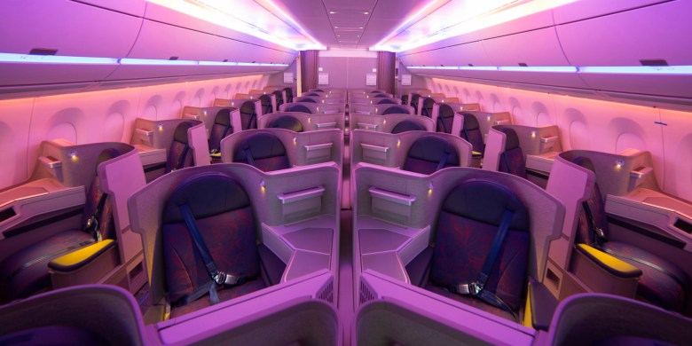 Air China is flying its latest A350 Business Class to