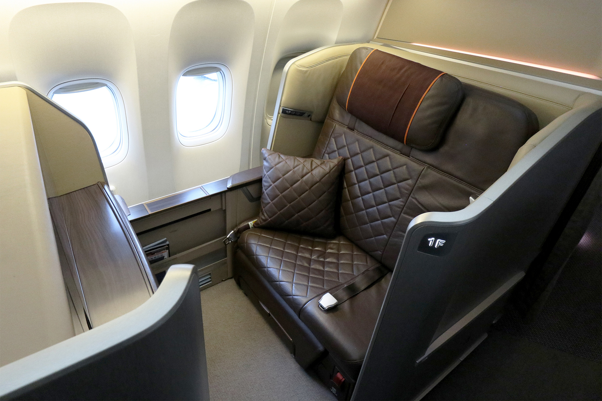 SIA will fly its 777-300ER First Class seats to Jakarta from March 2020