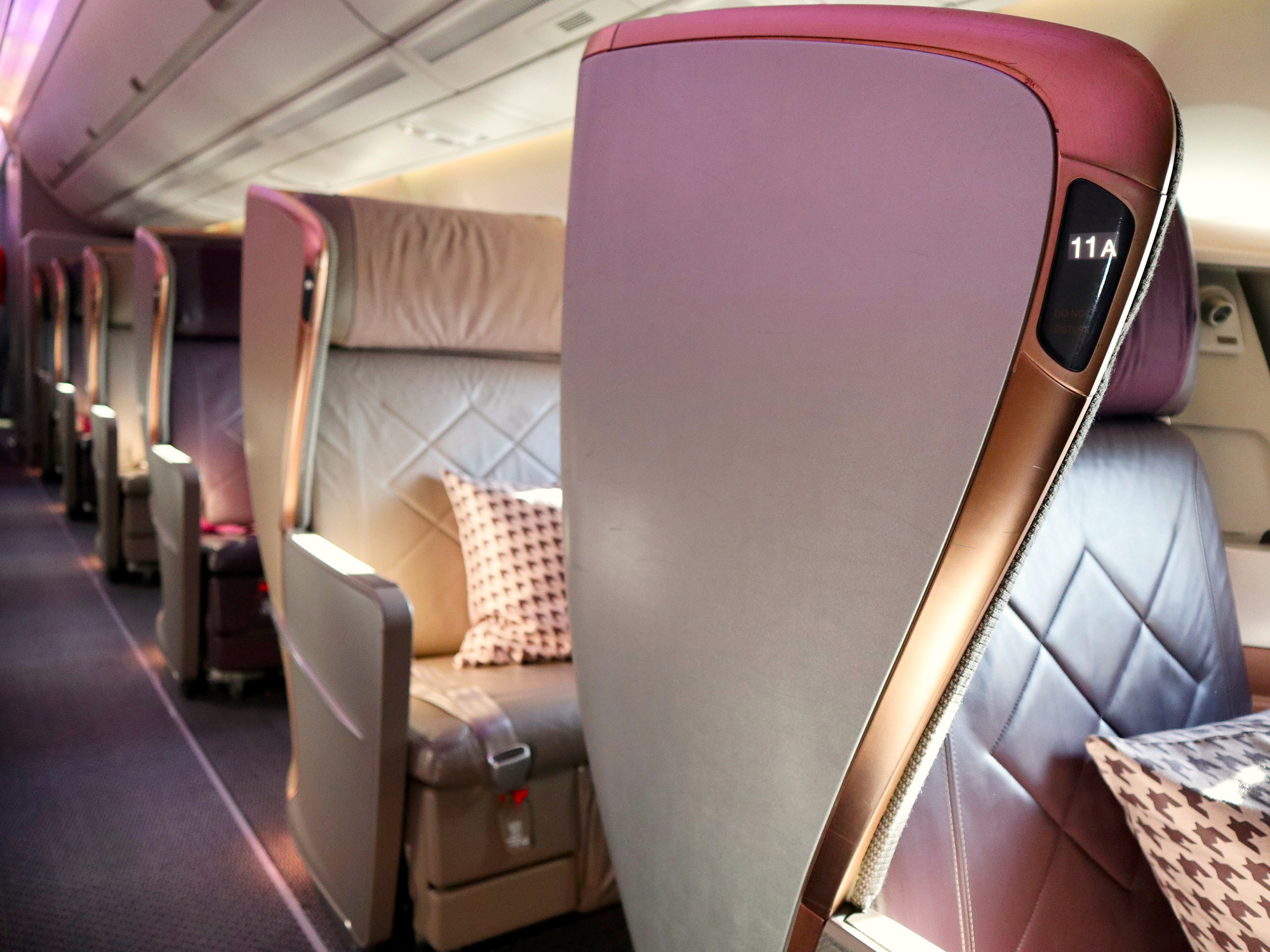 Singapore Airlines Business Class seat types by route to ...