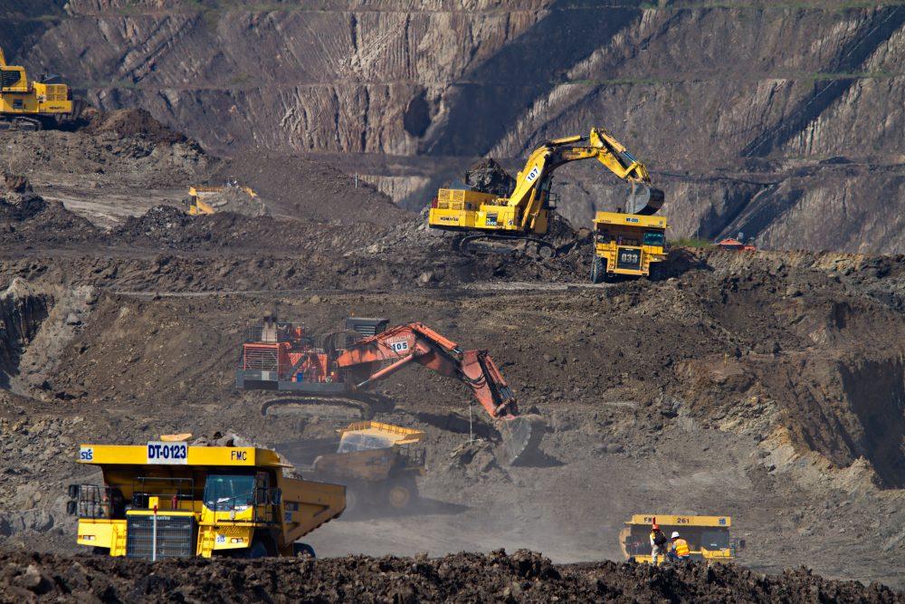 mining trucks and machinery