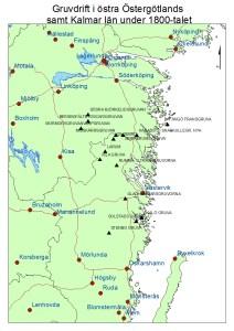 Gruvdrift i östra Östergötland samt Kalmar län under 1800-talet