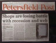 shop vs recession and web