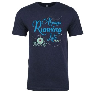 Always-running-late-unisex-cotton-poly-tee