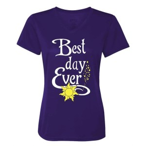 Best-day-ever-ladies-performance-vneck-purple