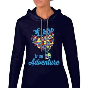Love-is-an-adventure-ladies-lightweight-hoodie-navy