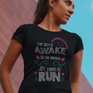 Skys-awake-so-i-have-to-run-unisex-cotton-poly-crew-black-model
