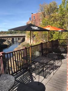 Old Mill Pub Outside Deck in Skowhegan, Maine (01