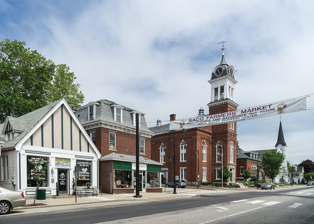 Saco City Hall (left)
