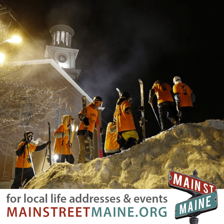 Maine S Winter Downtown Destinations Events Main Street Maine Maine S Main Streets