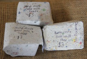Goats' milk soap and more by Amber.