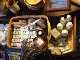 Body care products and air freshener by Cedar Ridge Soaps.