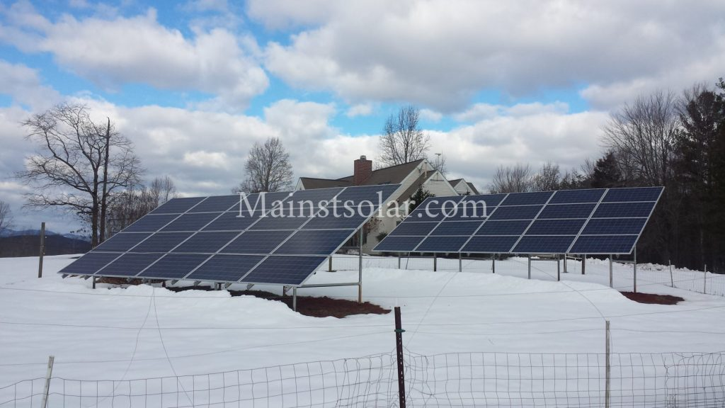 solar panels in snow