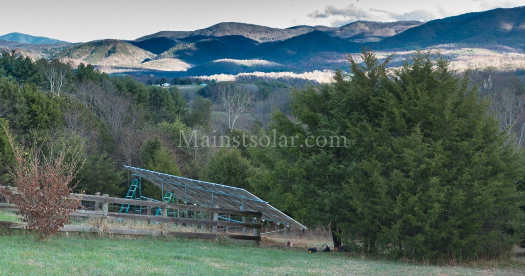 ground mounted solar array mountains Virginia