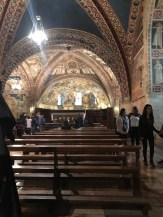 The inside of the Basilica di San Francesco d'Assisi