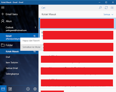 Cara Mudah Membuat Shortcut Email di Start Menu Windows 10