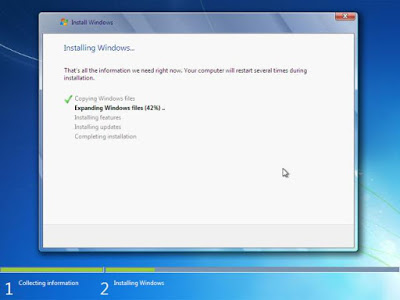 Proses copy file Windows 7