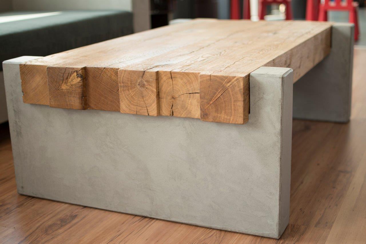 Maintisch Betontisch Holztisch Wohnzimmertisch Couchtisch