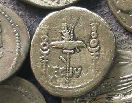 Munt van het Vierde Legioen Macedonica (Westfälisches Römermuseum, Haltern)
